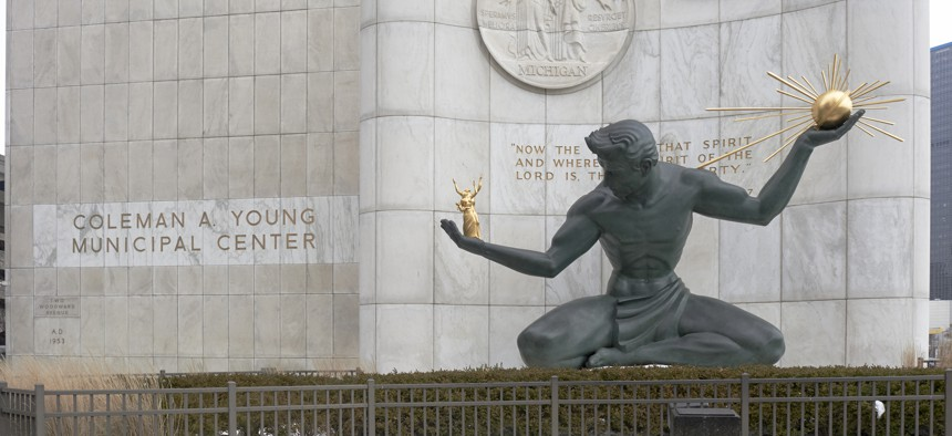 The Coleman A. Young Municipal Center in downtown Detroit.