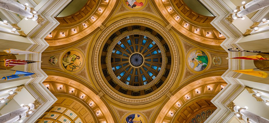 South Dakota was the only state with an overfunded pension system, according to a new report.