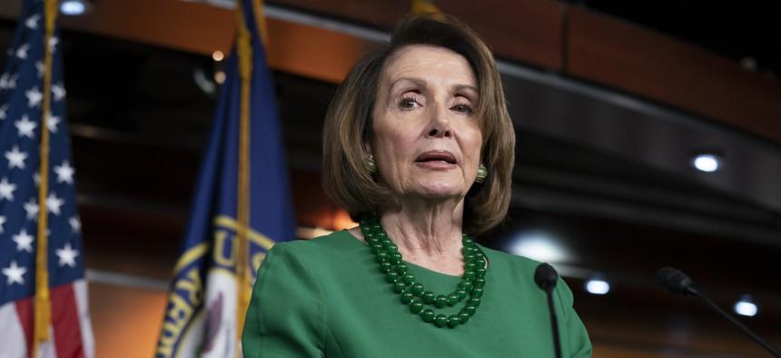 Nancy Pelosi, the expected future speaker of the House, speaking in December 2018.