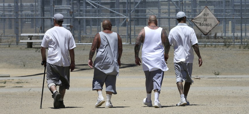 Inmates at a prison in Vacaville, California. After the 2020 census, California and Delaware will join New York and Maryland in counting prisoners in their home communities rather than in the place where they are incarcerated.