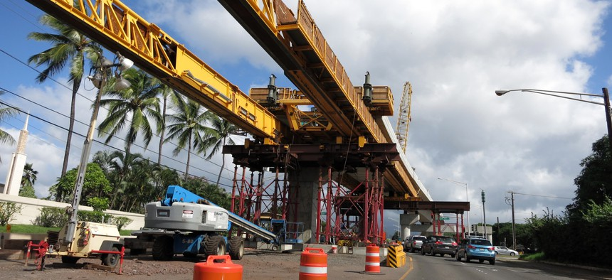Construction of a guideway for the Honolulu Authority for Rapid Transportation