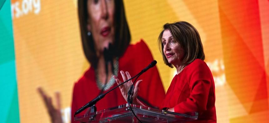 Democratic House Speaker Nancy Pelosi
