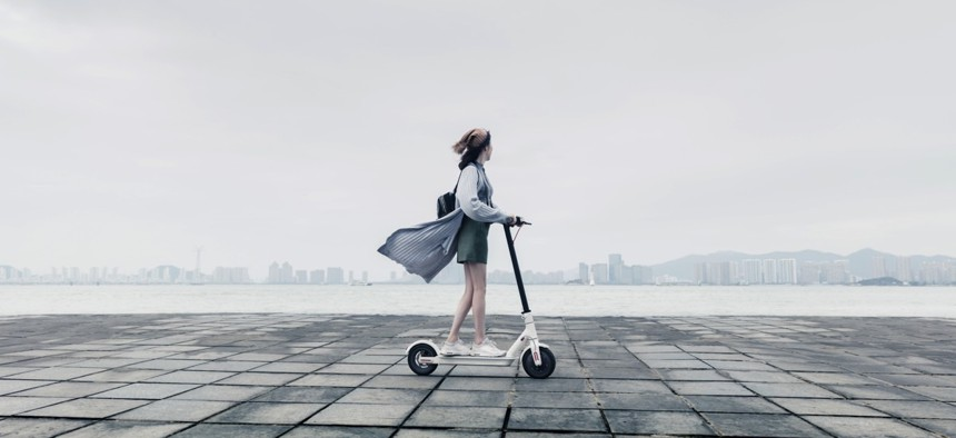 Xiaomi promotional picture for its Electric Scooter