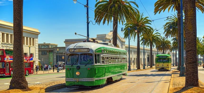 City trams in San Francisco.
