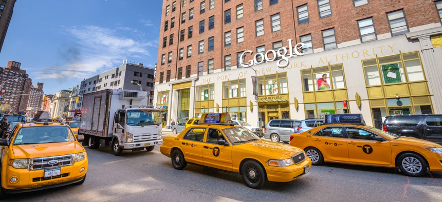 A three million square foot former New York Port Authority building, purchased by Google in 2010.