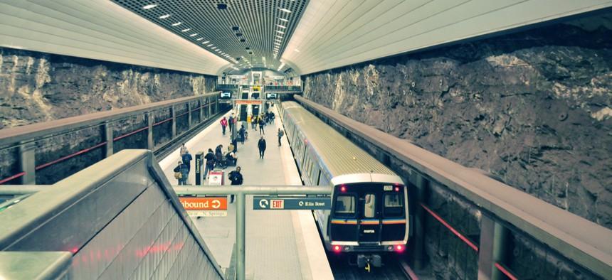 MARTA train station in Atlanta.