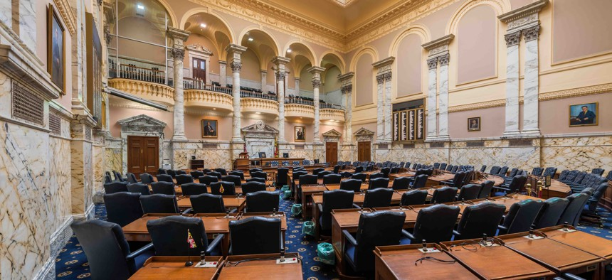 The Maryland House of Delegates chamber.