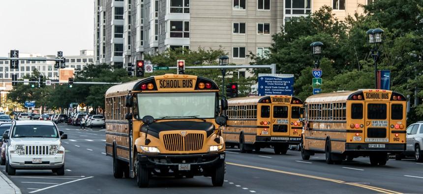 A school bus in Boston.