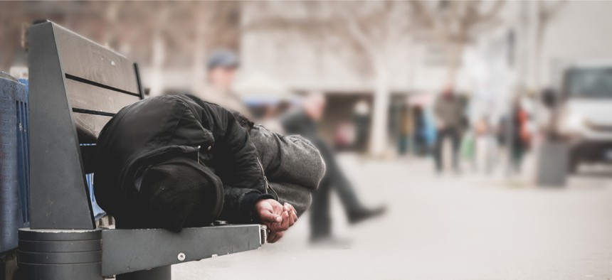 The county sheriff's office uses an online reporter survey to track homeless activity in the area.