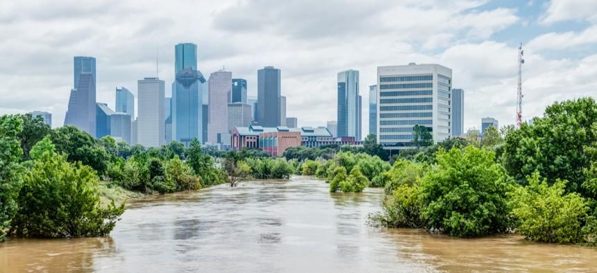 Flooding from Hurricane Harvey left Houston underwater in 2017.
