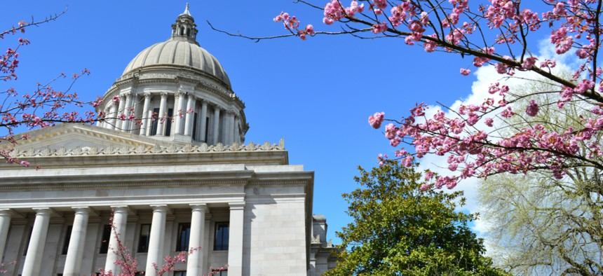The Washington Capitol building in Olympia.