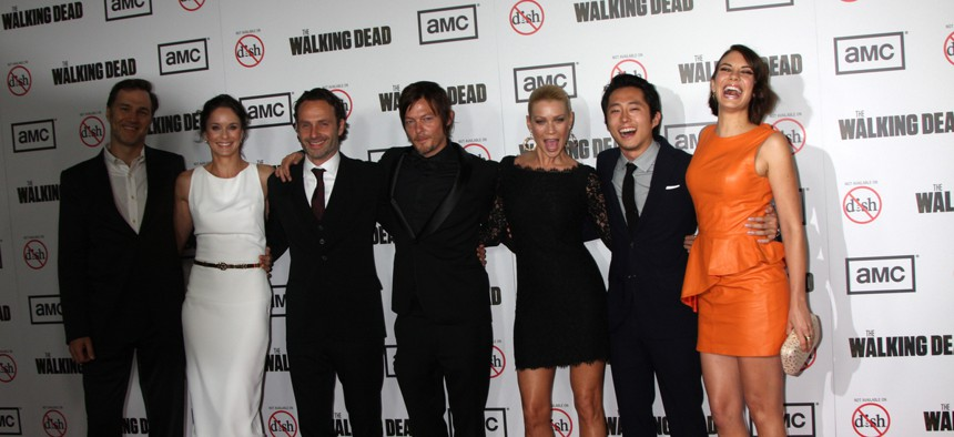AMC, which films The Walking Dead in Georgia, is one of the studios that has threatened to pull production from the state if a new abortion law takes effect.
