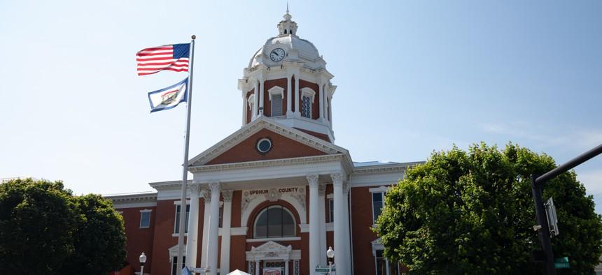 A county clerk's office in West Virginia.
