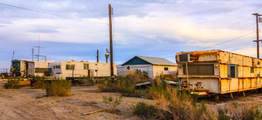 A trailer and RV park in California.
