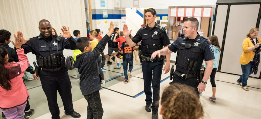 A cornerstone of the Aurora policing initiative is creating more positive interactions between police and residents, especially youth.