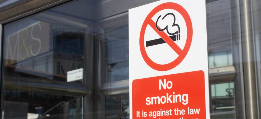 """Some local governments are going beyond smoke-free workplaces to """"smoker-free"""" workplaces."""