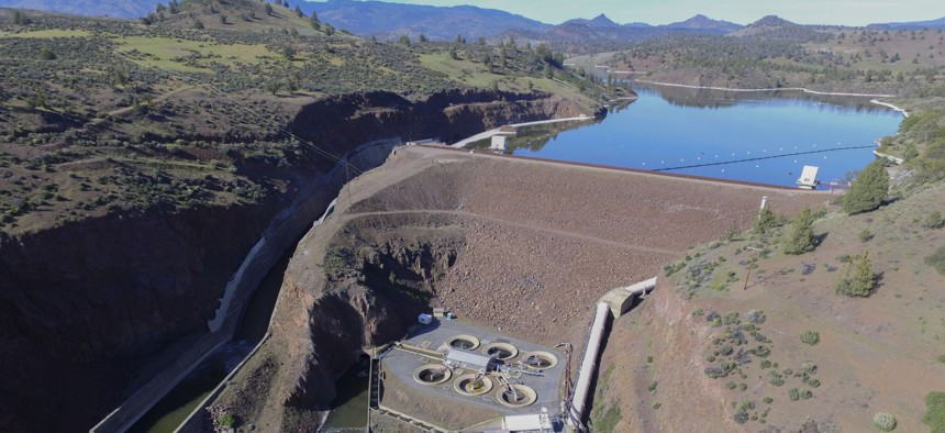 The Iron Gate Dam on the Klamath River.