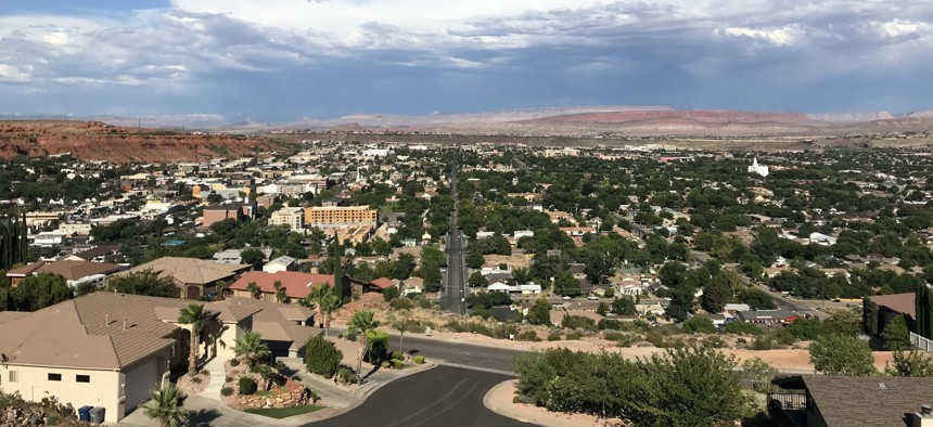 The desert city of St. George has seen swift population growth in recent decades. Local leaders in the area would like to build a pipeline to carry in more water.