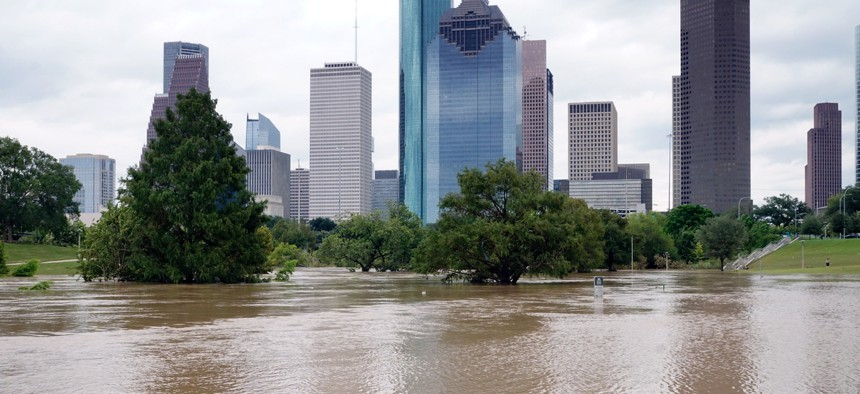 Flooding in Houston caused by climate change.