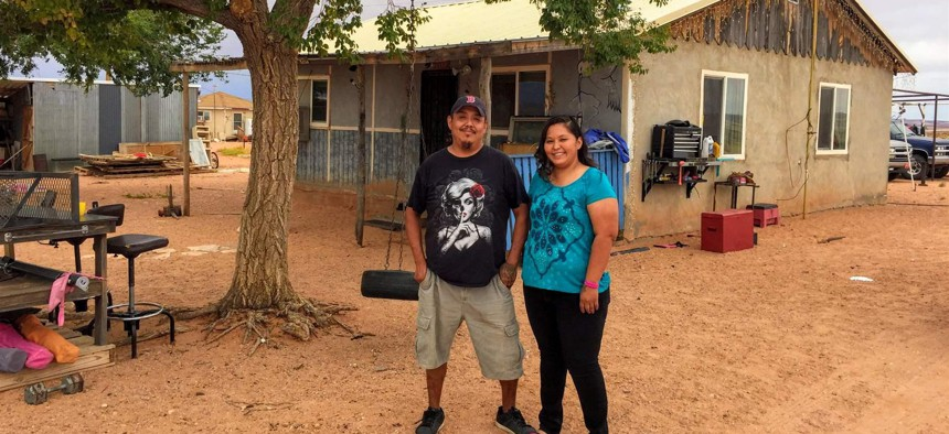Marthleen and Shuan Stephenson's home on the Navajo Nation lacked an address for years, until a partnership with Google finally put them on the map and secured their voter registration.
