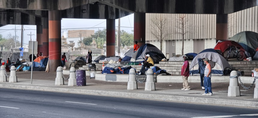 After Katrina, homelessness skyrocketed, from about 2,000 people experiencing homelessness in 2005 to nearly 12,000 in 2007.