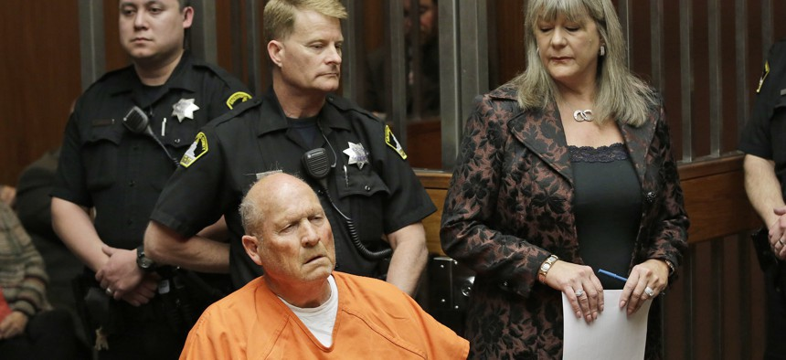 """Joseph James DeAngelo, 72, who authorities suspect is the """"Golden State Killer."""" They said they used a genetic genealogy website to connect some crime-scene DNA to DeAngelo."""