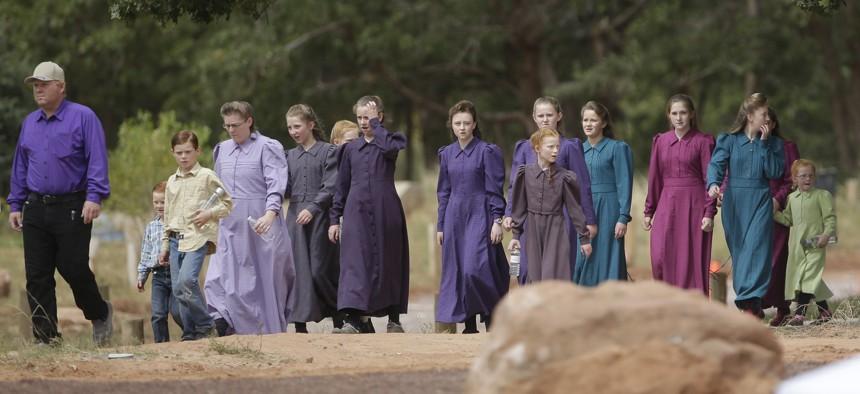 Fundamentalist Mormons in Hildale, Utah, part of the community formerly run by Warren Jeffs.