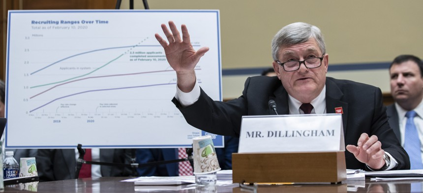 U.S. Census Bureau Director Steven Dillingham testifies during a hearing of the House Committee on Oversight and Reform, on Capitol Hill, Wednesday, Feb. 12, 2020, in Washington.