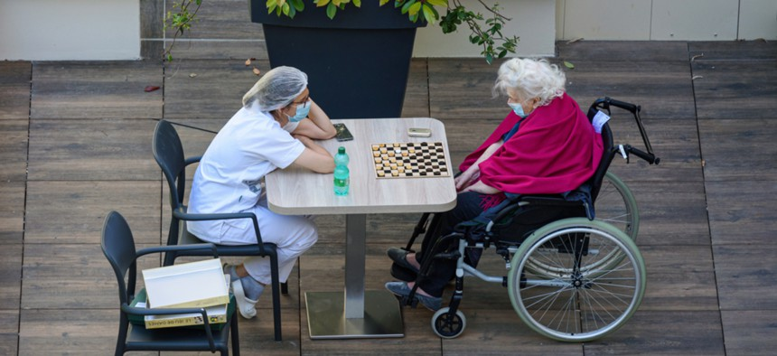 Today, many nursing homes across the country remain on lockdown.