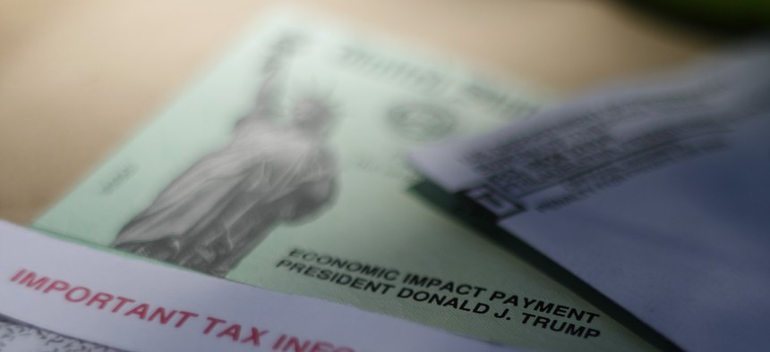 A stimulus check issued by the IRS to help combat the adverse economic effects of the coronavirus outbreak.