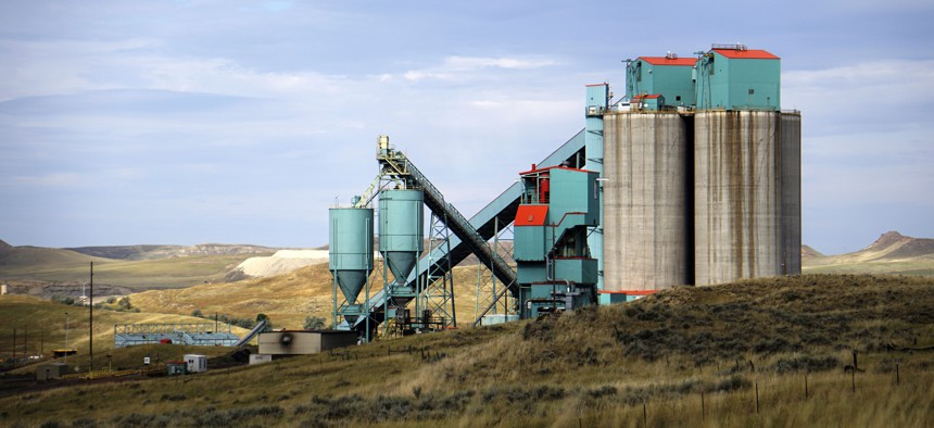 This 2019 photo shows the Eagle Butte mine just north of Gillette, Wyoming. A downturn in the coal sector is one issue contributing to the state's financial woes.
