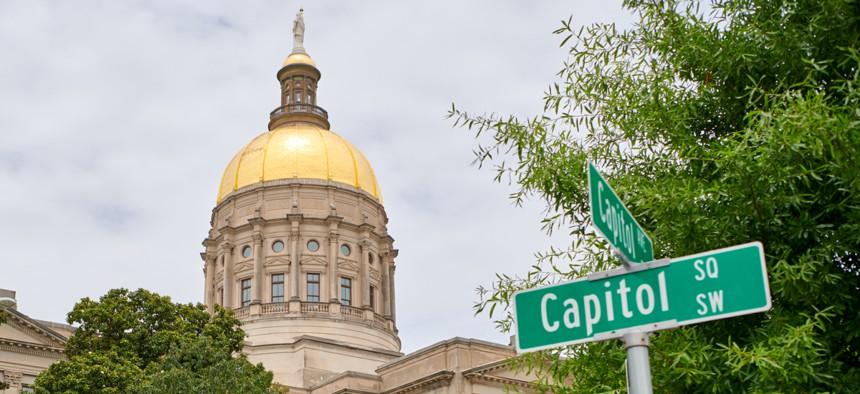 The Georgia State Capitol. Georgia is aggressive about third-party TANF spending.