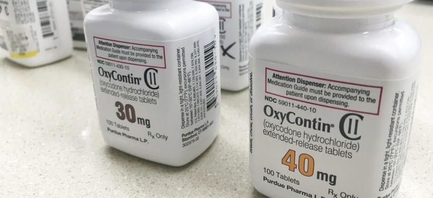 OxyContin is a prescription opioid made by Purdue Pharma.