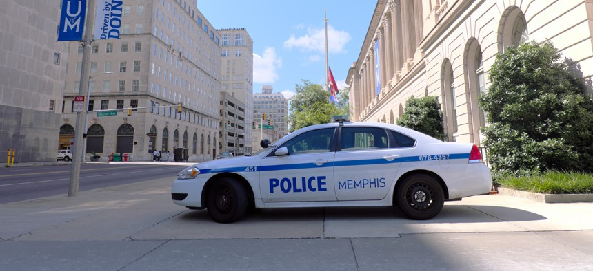 A police car in Memphis, Tennessee.