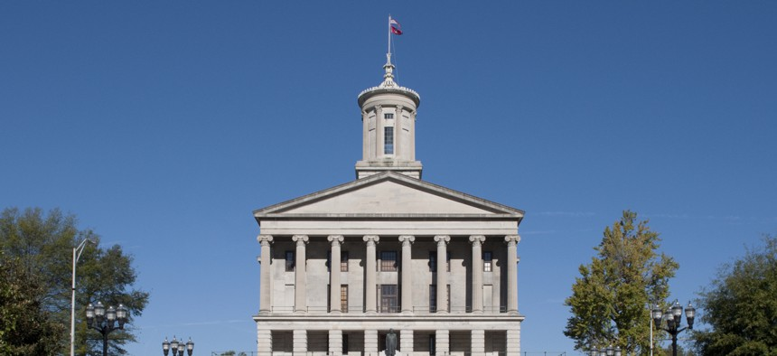 Tennessee state capitol building. The state has leveraged technology solutions to reduce improper unemployment payouts.