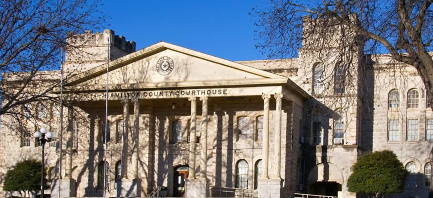 The Hamilton County courthouse.