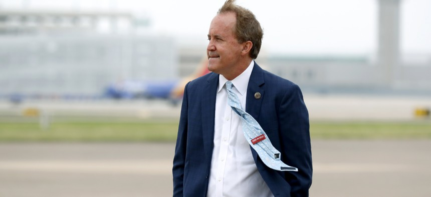 Texas State's Attorney General Ken Paxton, seen here in June, is facing accusations from his staff that he engaged in bribery and other misconduct.