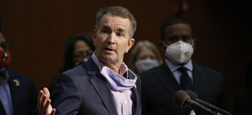 Virginia Gov. Ralph Northam speaks during a news conference in June.