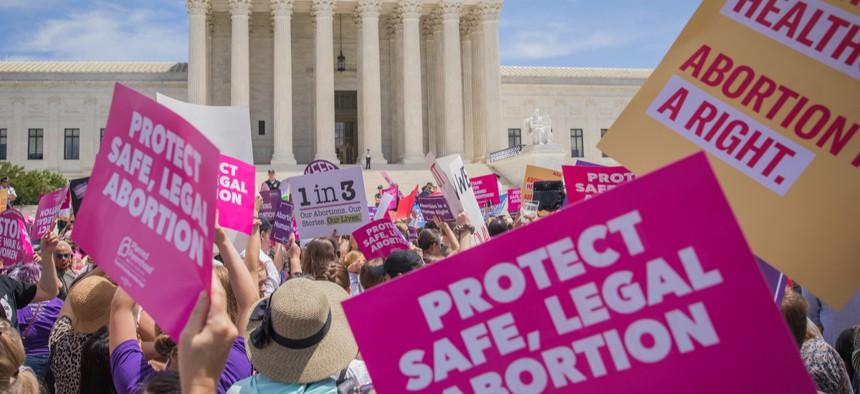 A protest in support of abortion rights outside the Supreme Court in May 2019.
