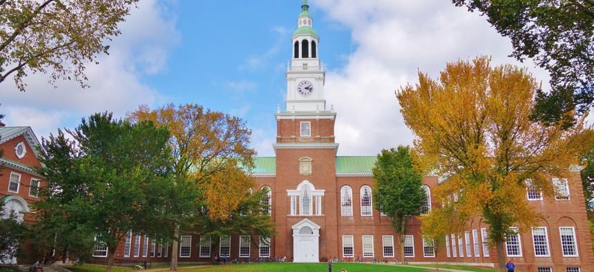 Dartmouth College in Hanover, New Hampshire.