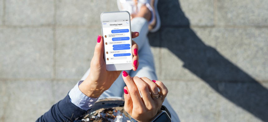 The text messages increase in frequency—and aggression—through Election Day, until a recipient confirms that they've voted.