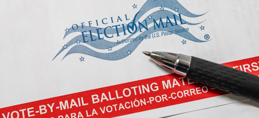 A Florida mail-in ballot.