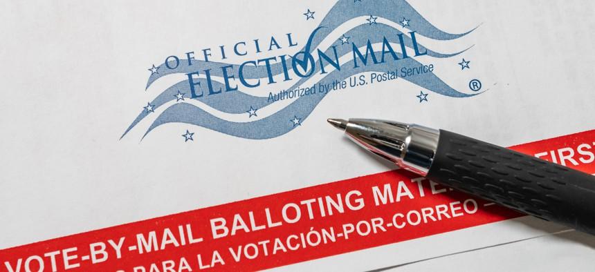 A Florida mail-in ballot.