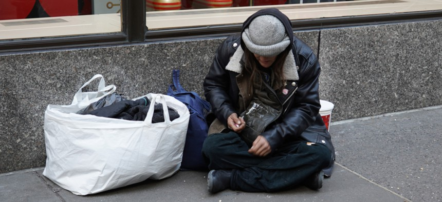 This year, the coronavirus has forced homeless shelters to limit the number of beds they can offer.