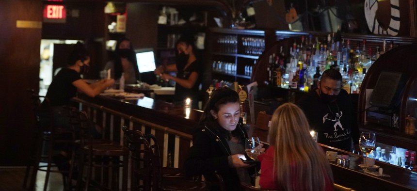 A bar in Hoboken, New Jersey, on November 11, 2020.