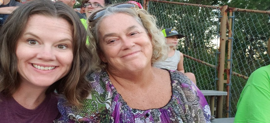 Sara Knotts and her mother, Anne Ashcraft. Ashcraft, 62, died of brain cancer on Oct. 11, three weeks before Election Day.