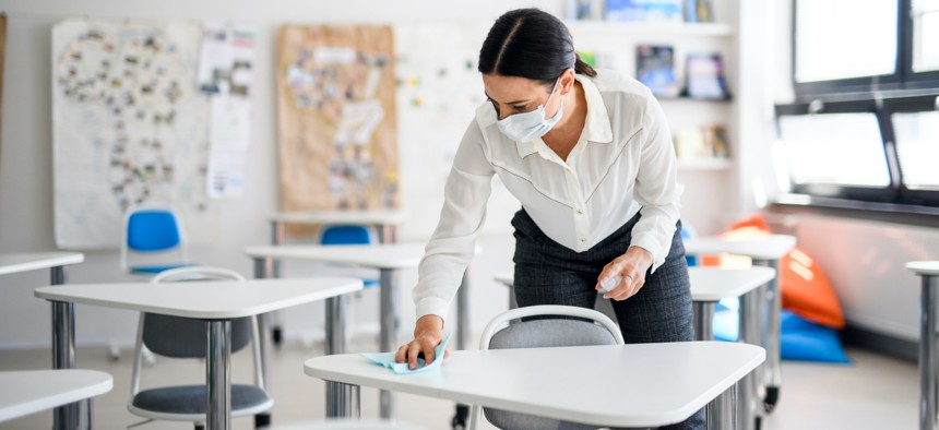 Schools across the country are grappling with an existing teacher shortage that's been exacerbated by the coronavirus pandemic.