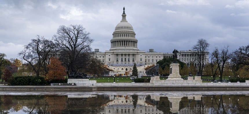 The Capitol is seen in Washington, Monday, Nov. 30, 2020.