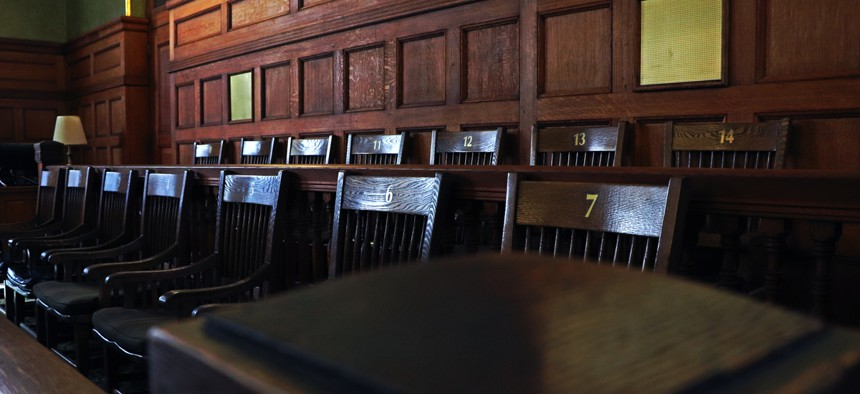 Requiring large numbers of people to show up for jury duty and holding traditional trials in often-packed courtrooms just isn't a safe bet right now, court officials say.