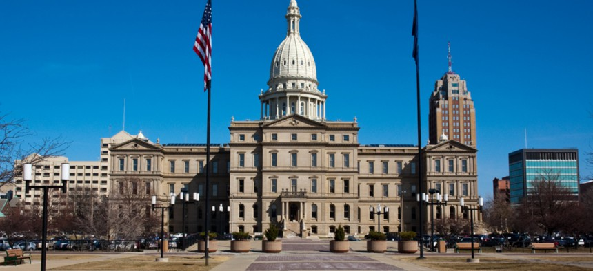 The Michigan State Capital in Lansing.